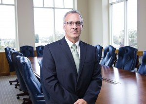 Confident Businessman portrait in a conference room